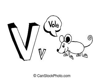 A b c d e f g h i j k l m n o p q r s t u v w x y z cartoon...