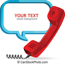 Phone receiver - Vector text banner