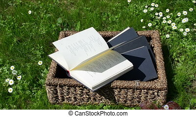 books basket thumb page - Wicker basket full of books...