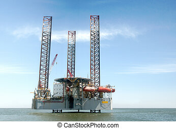 Off shore oil drilling platform