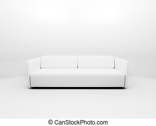 Single white couch