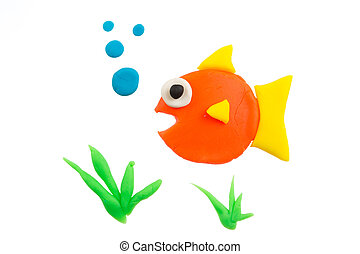 Fish modelling clay