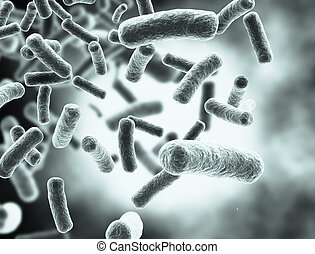 Bacteria cells large resolution medical background