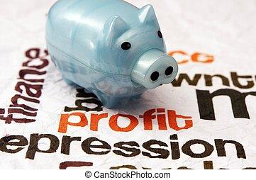 Piggy bank and profit concept