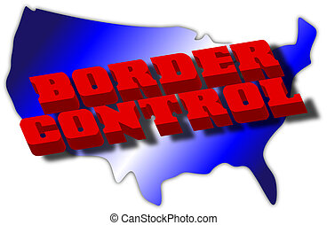 Border Control Graphic - Shape of the United States with the...