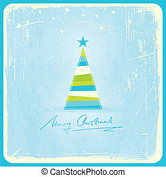 Grunge background with Christmas tree - Illustration of a...