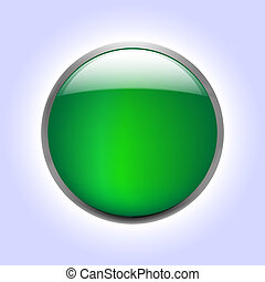 Vector illustrations of glossy glass buttons