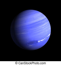 Planet Neptune - A rendering of the Gas Planet neptune on a...