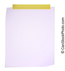 White post it notes isolated on white background.