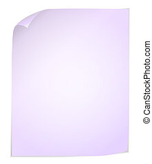 White post it notes isolated on white background - Vector...