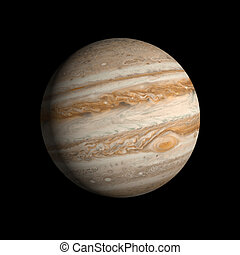 Planet Jupiter - A rendering of the Gas Planet Jupiter on a...