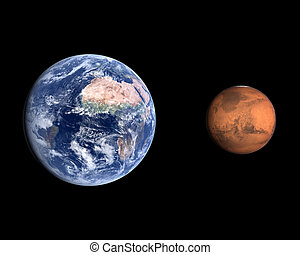 Planets Earth and Mars - A comparison between the planets...