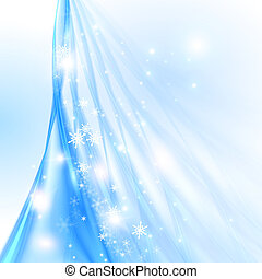 Abstract blue background with Christmas tree