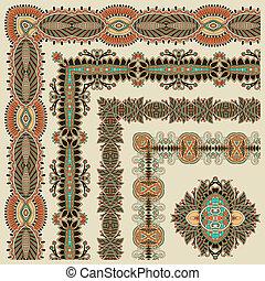 collection of ornamental floral vintage frame design. Vector...