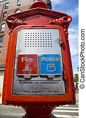 Emergency services - Fire and police call-out on this stand...