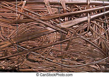 Copper tubes pipes - A bale of recycling copper