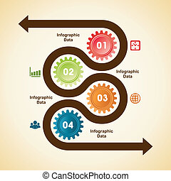 Creative gears Info-graphics option - Illustration of...