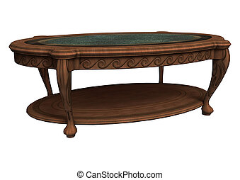 Old Coffee Table - 3D digital render of a beautiful old...