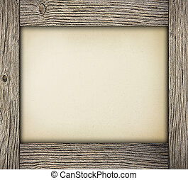 Wood frame with paper