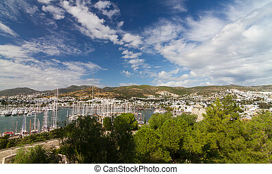 Bodrum Town and Marina in Turkey