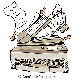 Document Scanner - An image of a document scanner.