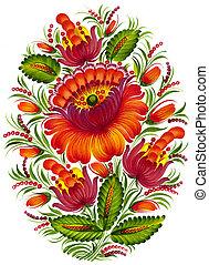folk ornament - high resolution, hand drawn illustration in...