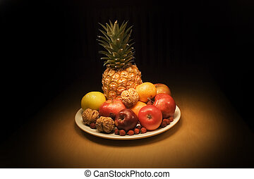 Fruits with pineapple