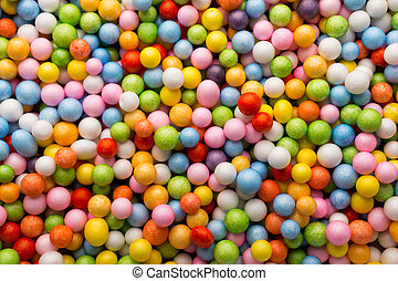 Small colored balls. Background.