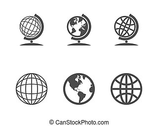 Globe icons Vector illustration