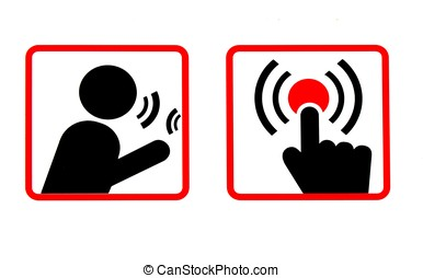 Communications Icons - Two symbols instructing the user on...