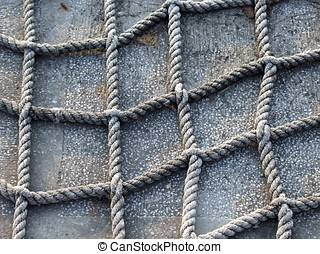 Rope Pattern - A square pattern of criss-crossing old ropes
