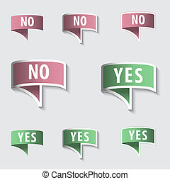 YES & NO Check marks Buttons