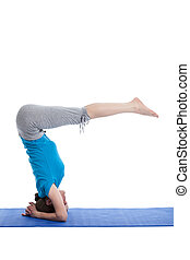 Yoga - young beautiful woman yoga instructor doing Lowered...