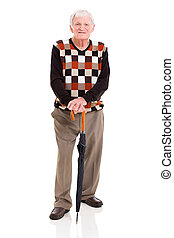 elderly man with umbrella - handsome elderly man with...