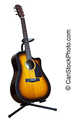 acoustic six-string guitar on a white background - acoustic...