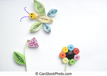 quilling - Children's creative work in the quilling...