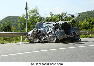 car after the accident