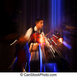 Abstract drummer concert - The Sound of Music Abstract image...