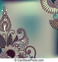 ornamental vintage floral background with decorative flowers for your design