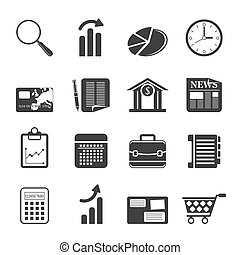 Silhouette Business and Office icon - Silhouette Business...