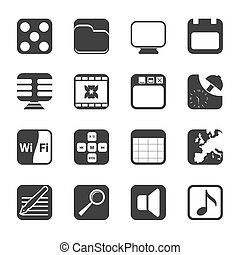 Silhouette Phone Performance icons
