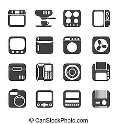 Silhouette Home and Office icons