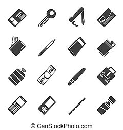 Silhouette Vector Object Icons - Silhouette Simple Vector...
