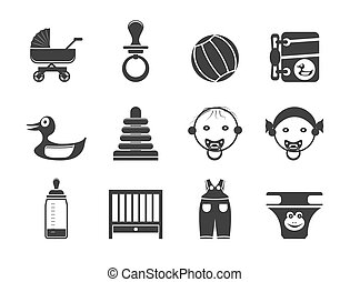 Silhouette Baby Shop Icons