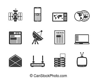 Silhouette Communication icons