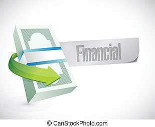 financial sign illustration design