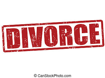 Divorce stamp - Divorce grunge rubber stamp on white, vector...