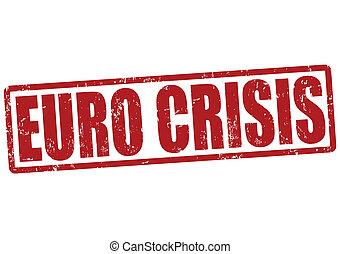 Euro crisis stamp - Euro crisis grunge rubber stamp on...