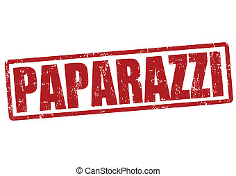 Paparazzi stamp - Paparazzi grunge rubber stamp on white,...