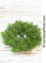 Christmas wreath Copy space composition